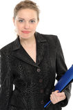 Young businesswoman holding a folder Stock Image