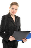 Young businesswoman holding a folder Stock Photography