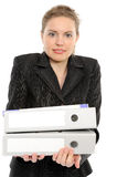 Young businesswoman holding a folder Royalty Free Stock Image
