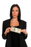 Young Businesswoman Holding Money Stock Photography