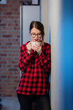 Young businesswoman at home interior Stock Photography
