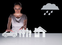 The young businesswoman in insurance concept Royalty Free Stock Photo