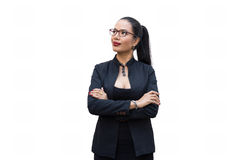 Young businesswoman. Isolate on a white Royalty Free Stock Photography