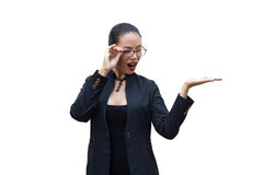 Young businesswoman. Isolate on a white Stock Image