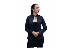 Young businesswoman. Isolate on a white Royalty Free Stock Images