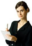 Young businesswoman, isolated Stock Photo