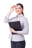 Young businesswoman isolated Stock Photo