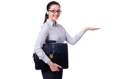 Young businesswoman isolated Royalty Free Stock Images