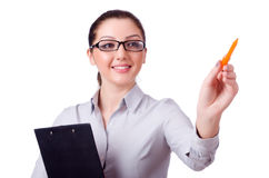 Young businesswoman isolated Royalty Free Stock Photos