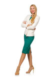 Young businesswoman isolated Stock Image