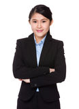 Young businesswoman. Isolated on white background Stock Image