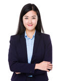 Young businesswoman. Isolated on white background Stock Photography