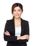 Young businesswoman. Isolated on white background Royalty Free Stock Photos