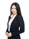 Young businesswoman. Isolated on white background Royalty Free Stock Images