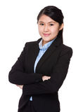 Young businesswoman. Isolated on white background Royalty Free Stock Photo
