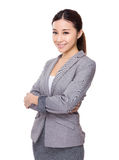 Young businesswoman. Isolated on white background Stock Photo