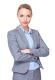 Young businesswoman. Isolated on white background Stock Images