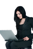 Young businesswoman with a laptop Stock Image
