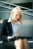 Young businesswoman with laptop Stock Photography
