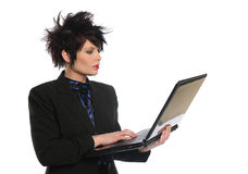 Young Businesswoman with laptop Royalty Free Stock Photography