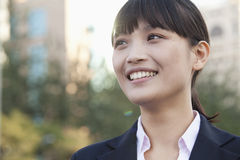 Young Businesswoman  Looking away Stock Images