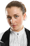 Young businesswoman looking on camera Royalty Free Stock Photos