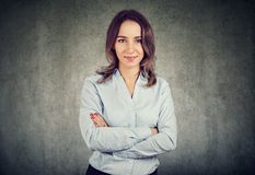 Young businesswoman looking at camera Stock Photos