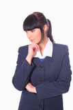 Young businesswoman is looking down Royalty Free Stock Photo