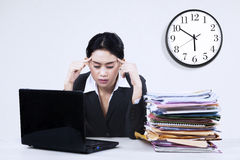 Young businesswoman looking tired 1 Stock Photo