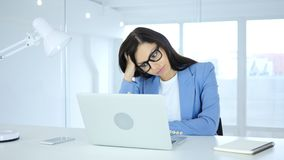 Young Businesswoman in Loss, Frustration and Tension. 4k , high quality Stock Image