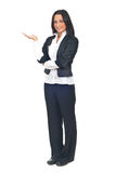 Young businesswoman making presentation Royalty Free Stock Image