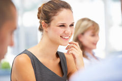 Young businesswoman in meeting Royalty Free Stock Photo