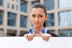 Young businesswoman need job Stock Photos