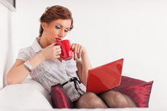 Young businesswoman with notebook. Stock Images