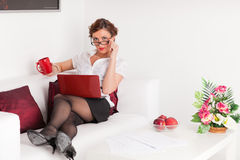 Young businesswoman with notebook. Stock Photography
