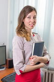 Young businesswoman with notebook Royalty Free Stock Photo