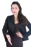 Young businesswoman offering hand Stock Images