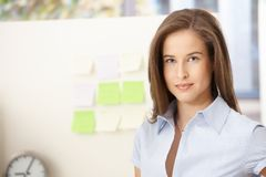 Young businesswoman in office Royalty Free Stock Photo