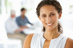 Young businesswoman in office Stock Photo