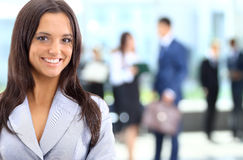 Young businesswoman in office Royalty Free Stock Images