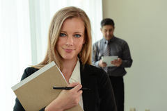 Young Businesswoman at the office Stock Image