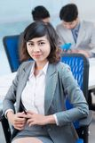 Young businesswoman in office Stock Photos