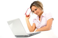 Young businesswoman at the office Royalty Free Stock Images