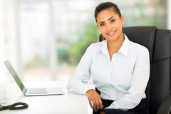 Young businesswoman office Royalty Free Stock Photos
