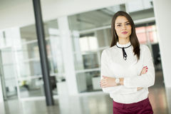 Young businesswoman in office Stock Images
