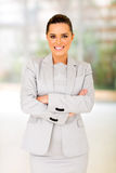 Young businesswoman office Stock Images