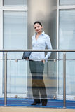 Young businesswoman office smile Royalty Free Stock Images