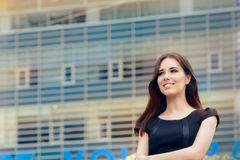 Young Businesswoman Out in the City Stock Photos