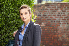Young businesswoman, outdoor shoot Royalty Free Stock Photography