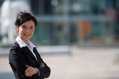 Young businesswoman outdoors Stock Images